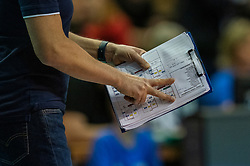 18-05-2019 GER: CEV CL Super Finals Igor Gorgonzola Novara - Imoco Volley Conegliano, Berlin<br /> Igor Gorgonzola Novara take women's title! Novara win 3-1 / Tactics service Coach Massimo Barbolini of Igor Gorgonzola Novara