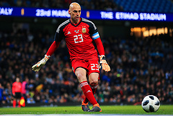Willy Caballero of Argentina - Mandatory by-line: Matt McNulty/JMP - 23/03/2018 - FOOTBALL - Etihad Stadium - Manchester, England - Argentina v Italy - International Friendly