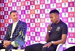 South Africa: Johannesburg: Orlando Pirates coach Milutin Sredojevic and captain Happy Jele, speaks during a press conference at the PLS officers in Parktown, on the much anticipated Soweto Derby on Saturday when Orlando Pirates host rivals Kaizer Chiefs for Absa Premiership match at FNB Stadium.<br />Picture: Itumeleng English/African News Agency (ANA)<br />973<br />24.10.2018