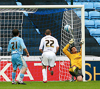 Photo: Mark Stephenson.<br /> Coventry City v Hull City. Coca Cola Championship. 18/08/2007.Hull's Nick Barmby (out of shot ) beats Coventry's keeper Dimi Konstantpoulos for 1-1