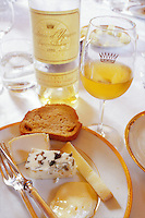 roquefort cheese at Chateau Yquem