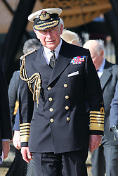 The Prince of Wales arriving at the Mary Rose Museum in Portsmouth, United Kingdom, Wednesday, 26th February 2014. Picture by Stephen Lock / i-Images