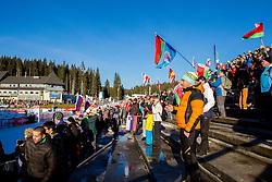 Spectators during Men 10 km Sprint at day 2 of IBU Biathlon World Cup 2014/2015 Pokljuka, on December 19, 2014 in Rudno polje, Pokljuka, Slovenia. Photo by Vid Ponikvar / Sportida