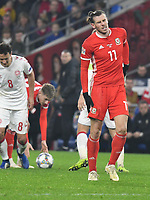 Football - 2018 / 2019 UEFA Nations League B - Group Four: Wales vs. Denmark<br /> <br /> Gareth Bale of Wales hobbles away after taking a knock , at Cardiff City Stadium.<br /> <br /> COLORSPORT/WINSTON BYNORTH