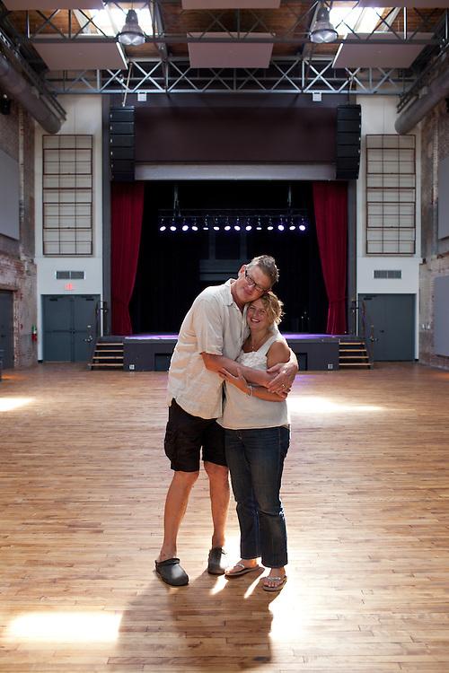 Indy Arts Award Winners: Heather & Tom LaGarde, the proprietors of the Haw River Ballroom, Saxapahaw, NC, July 15, 2011.