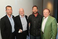 Retiring BPI Chairman , Tony Wadsworth CBE presented with BRIT Award by Damon Albarn. BPI ACM & AGM 2014, ME Hotel London, Monday 1st Sept 2014, (Photo John Marshall - JM Enternational)
