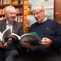Fr Harry Bohan and Donncha O Dúlaing at book launch at Ennis Bookshop on Thursday