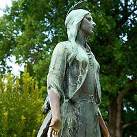 Statue of Pocahontas at Historic Jamestowne on Jamestown Island.