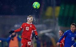 CESENA, ITALY - Tuesday, January 22, 2019: Wales' Jessica Fishlock, wearing a protective face mask, during the International Friendly between Italy and Wales at the Stadio Dino Manuzzi. (Pic by David Rawcliffe/Propaganda)
