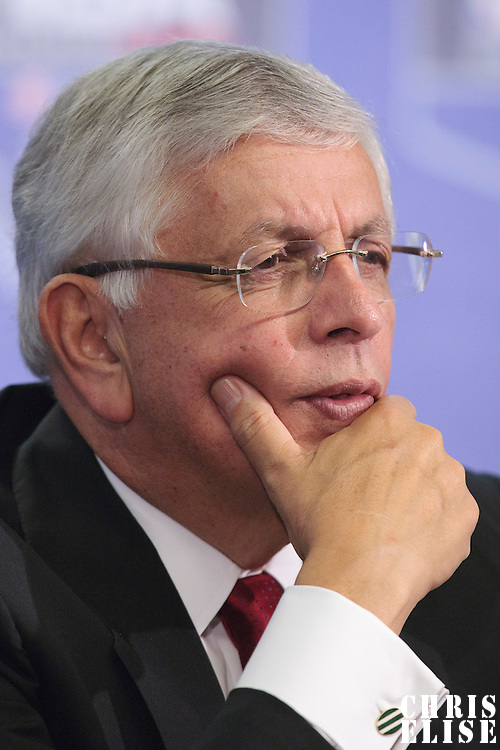 04 October 2010: NBA commissioner David Stern is seen during a press conference prior to the Minnesota Timberwolves 111-92 victory over the Los Angeles Lakers, during 2010 NBA Europe Live, at the O2 Arena in London, England.