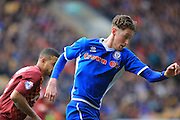 Goalscorer Joe Bunney during the Sky Bet League 1 match between Bradford City and Rochdale at the Coral Windows Stadium, Bradford, England on 20 February 2016. Photo by Daniel Youngs.