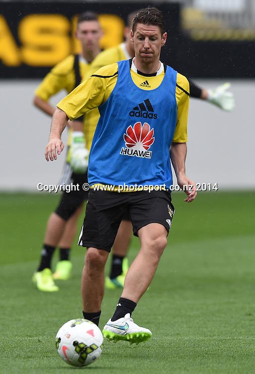 Nathan Burns. A-League Football. Wellington Phoenix training session at Eden Park, Friday 12 December 2014. Photo: Andrew Cornaga/photosport.co.nz