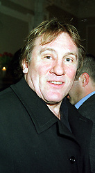 Actor GERARD DEPARDIEU at a party in London on 2nd February 2000.OAR 14