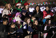 Hamptonburgh, New York - Members of the St. Stephen-St. Edward School chorus sing before theTree lighting ceremony at Thomas Bull Memorial Park on Dec. 1, 2011.