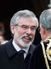 File photo -  Gerry Adams arrested for questioning over 1972 IRA slaying