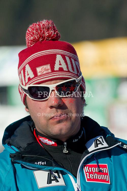 22.01.2012, Podkorn, Kranjska Gora, SLO, FIS Weltcup Ski Alpin, Kranjska Gora, Damen, Slalom, Podium, im Bild team Austria after 2nd Run of 48th Golden Fox Audi Alpine FIS Ski World Cup Ladies Slalom, on January 22, 2012 in Podkorn, Kranjska Gora, Slovenia. EXPA Pictures © 2012, PhotoCredit: EXPA/ Sportida/ Matic Klansek Velej..***** ATTENTION - OUT OF SLO *****
