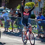 Emmanuel Gagne of Espoirs Quilicot - TRJ Télécom winning the Junior's race at the Grand Prix Cycliste de Brossard in Brossard in on May,  5 2013