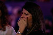 Gary Anderson's wife Rachel has seen it all before during the PDC World Championship darts at Alexandra Palace, London, United Kingdom on 14 December 2018.