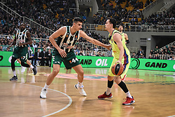 November 21, 2018 - Athens, Greece - Ante Tomic (44) seen in action during the 2018/2019 Turkish Airlines EuroLeague Regular Season Round 8 game between Panathinaikos OPAP Athens and FC Barcelona Lassa at Olympic Sports Center Athens. (Credit Image: © Nikolas Joao Kokovlis/SOPA Images via ZUMA Wire)