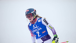 29.12.2014, Hohe Mut, Kühtai, AUT, FIS Ski Weltcup, Kühtai, Slalom, Damen, 2. Durchgang, im Bild Siegerin Mikaela Shiffrin (USA) // Winner Mikaela Shiffrin of the USA reacts after 2nd run of Ladies Giant Slalom of the Kuehtai FIS Ski Alpine World Cup at the Hohe Mut Course in Kuehtai, Austria on 2014/12/29. EXPA Pictures © 2014, PhotoCredit: EXPA/ JFK