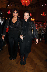 Left to right, SOLANGE AZAGURY-PARTRIDGE and LULU GUINNESS at the 6th annual Lancome Colour Design Awards in association with CLIC Sargent Cancer Care held at Lindley Hall, Victoria, London on 28th November 2006.<br /><br />NON EXCLUSIVE - WORLD RIGHTS