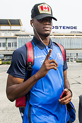 August 2, 2017 - Oostende, BELGIUM - Gent's Kalifa Coulibaly pictured during the departure of Belgian first division soccer team KAA Gent ahead of the return leg of the third qualifying round for the UEFA Europa League competition, Wednesday 02 August 2017 in Oostende airport. KAA Gent plays against Austrian team Rheindorf Altach on Thursday after a draw result 1-1. BELGA PHOTO JASPER JACOBS (Credit Image: © Jasper Jacobs/Belga via ZUMA Press)