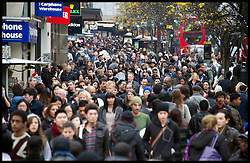 A busy Oxford Street in Central London as bargain hunters shop in the  Boxing Day Sales, Monday December 26, 2011. Photo By Andrew Parsons/i-Images