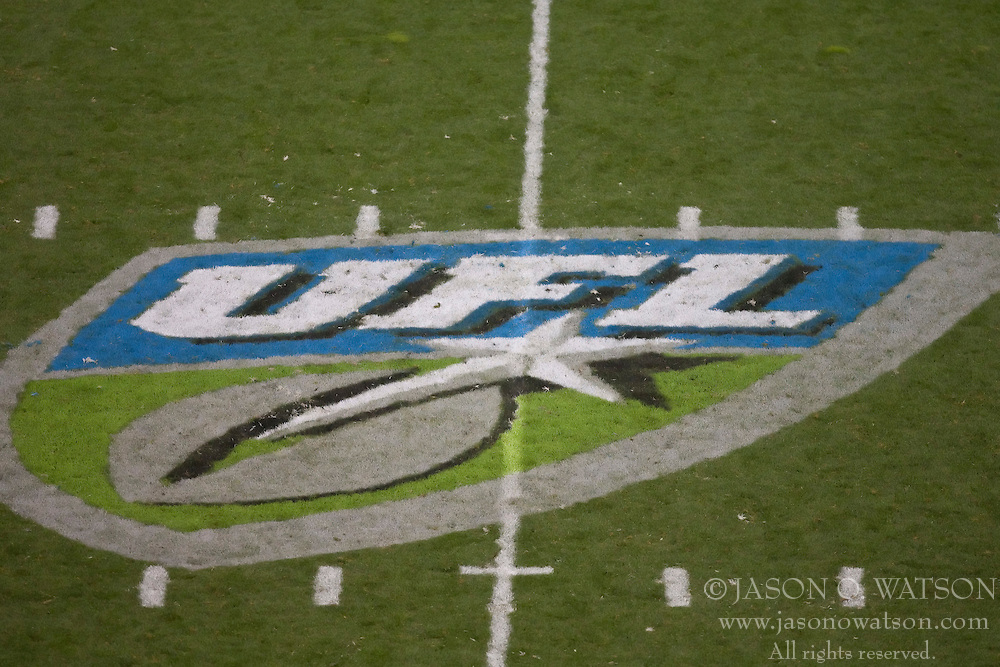 October 17, 2009; San Francisco, CA, USA;  UFL logo painted a midfield for the New York Sentinels at Calfornia Redwoods game at AT&T Park. California won 24-7.