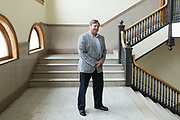 Dan Mandell, the mayor of Elmira, New York, poses for a portrait on Thursday, May 25, 2017. CREDIT: Mike Bradley for the Wall Street Journal<br /> RIPPLES