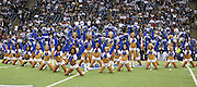 IRVING, TX - OCTOBER 23:  The Dallas Cowboys cheerleaders dance during pregame festivities at the game against the New York Giants at Texas Stadium on October 23, 2006 in Irving, Texas. The Giants defeated the Cowboys 36-22. ©Paul Anthony Spinelli