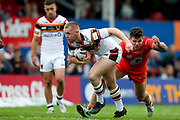 Bradford Bulls second row Evan Hodgson (35) in action  during the Kingstone Press Championship match between Sheffield Eagles and Bradford Bulls at, The Beaumont Legal Stadium, Wakefield, United Kingdom on 3 September 2017. Photo by Simon Davies.