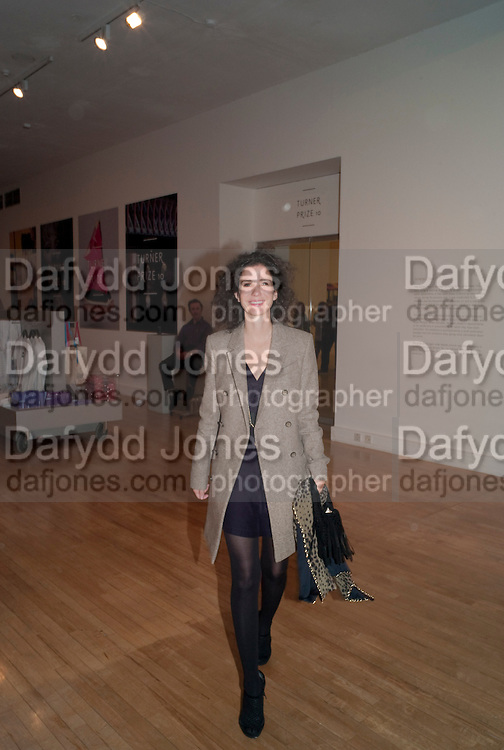 MOLLIE DENT-BROCKLEHURST, Private view for the Turner prize exhibition. Tate Britain. London. 4 October 2010. -DO NOT ARCHIVE-© Copyright Photograph by Dafydd Jones. 248 Clapham Rd. London SW9 0PZ. Tel 0207 820 0771. www.dafjones.com.
