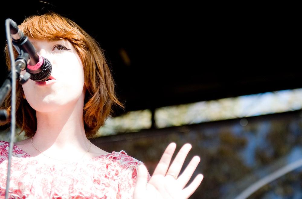 Grouplove's Hannah Hooper performs at the KROQ Weenie Roast y Fiesta Saturday in Irvine, CA. ....