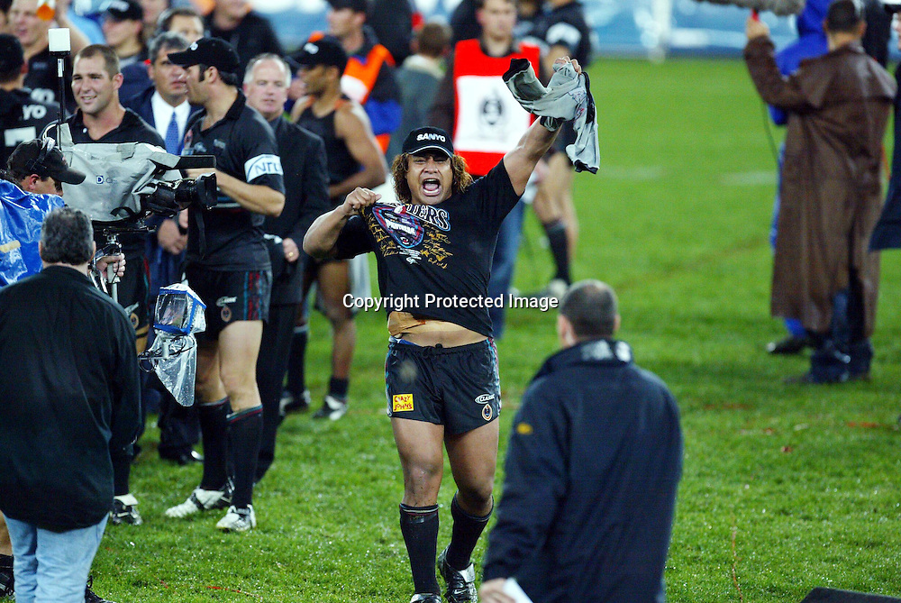 5th October 2003. Rugby League, NRL Grand Final, Telstra Stadium, Sydney, Australia. Penrith Panthers vs Sydney Roosters, <br />Joe Galuvao of Penrith<br />Panthers won 18-6<br />Please credit: Sandra Teddy /Photosport