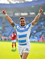 Horacio Agulla of Argentina celebrates the win after the match - Mandatory byline: Patrick Khachfe/JMP - 07966 386802 - 04/10/2015 - RUGBY UNION - Leicester City Stadium - Leicester, England - Argentina v Tonga - Rugby World Cup 2015 Pool C.