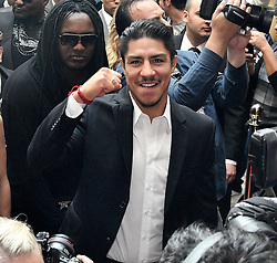 Nov 1, 2016.  Las Vegas NV. Jessy Vargas  arrives in a mob scene of cameras at the Wynn Hotel Tuesday. Jessy Vargas will be fighting Manny Pacquiao this Saturday Nov 5 at the Thomas & Mac for the WBO world title..Photo by Gene BlevinsLA DailyNewsZumaPress (Credit Image: © Gene Blevins via ZUMA Wire)