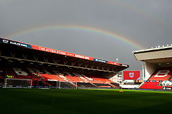 A rainbow over the Atyeo stand at Ashton Gate Stadium - Mandatory by-line: Dougie Allward/JMP - 10/11/2018 - FOOTBALL - Ashton Gate Stadium - Bristol, England - Bristol City v Preston North End - Sky Bet Championship