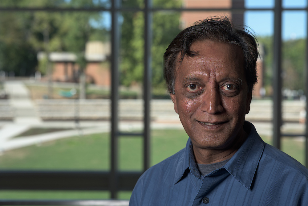 Madappa Prakash of Ohio University's Institute of Nuclear & Particle Physics (INPP) poses for a portrait in the Living Learning Center for a portrait on September 27, 2016.