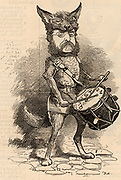Henry Drummond Charles Wolff (1830-1908). English-Jewish diplomat and Conservative politician, born in Malta.  Member of Parliament 1874-1885.  British Ambassador to Madrid, Spain, 1892-1900.  Cartoon by Edward Linley Sambourne in the Punch's Fancy Portraits series from 'Punch' (London, 23 September 1882).