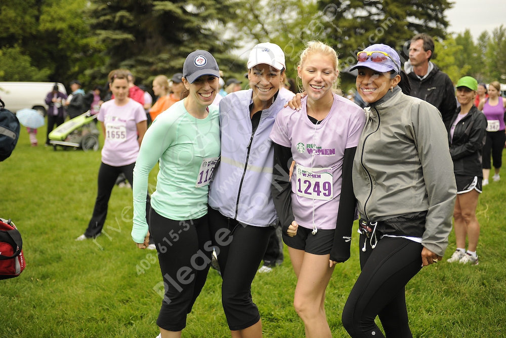 Marketing and promotional stock photography from the the STARBUCKS&reg; RUN FOR WOMEN&trade; at Baker Park in Calgary, Alberta for use by the organizers and sponsors of the race.<br /> <br /> Photographed in Calgary on June 23, 2012 on behalf of http://www.MySportsShooter.com.<br /> <br /> &copy;2012, Sean Phillips.<br /> http://www.RiverwoodPhotography.com