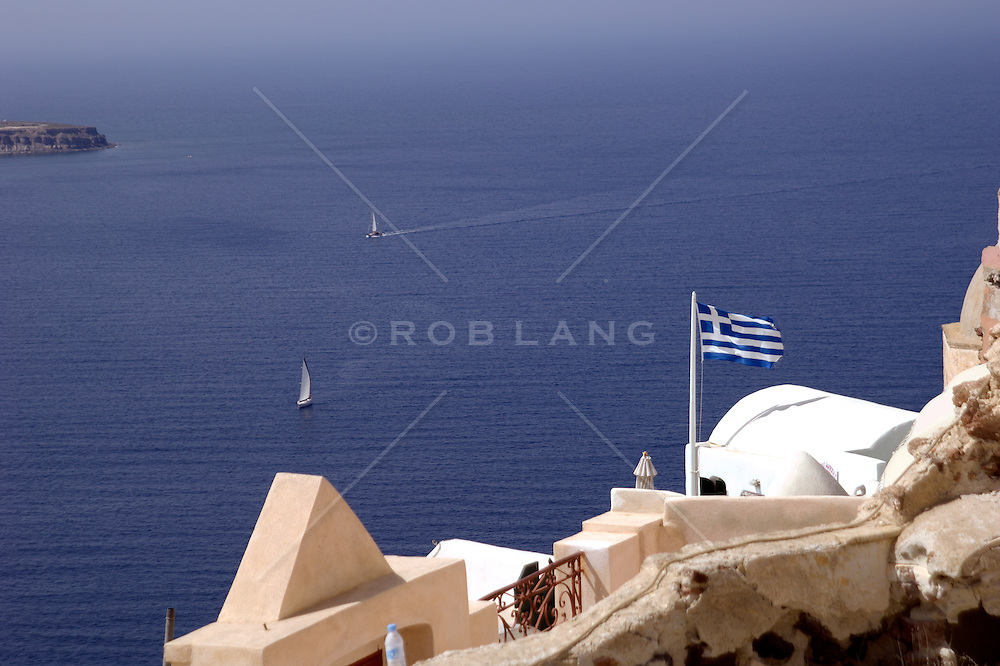 water view of Santorini, Greece