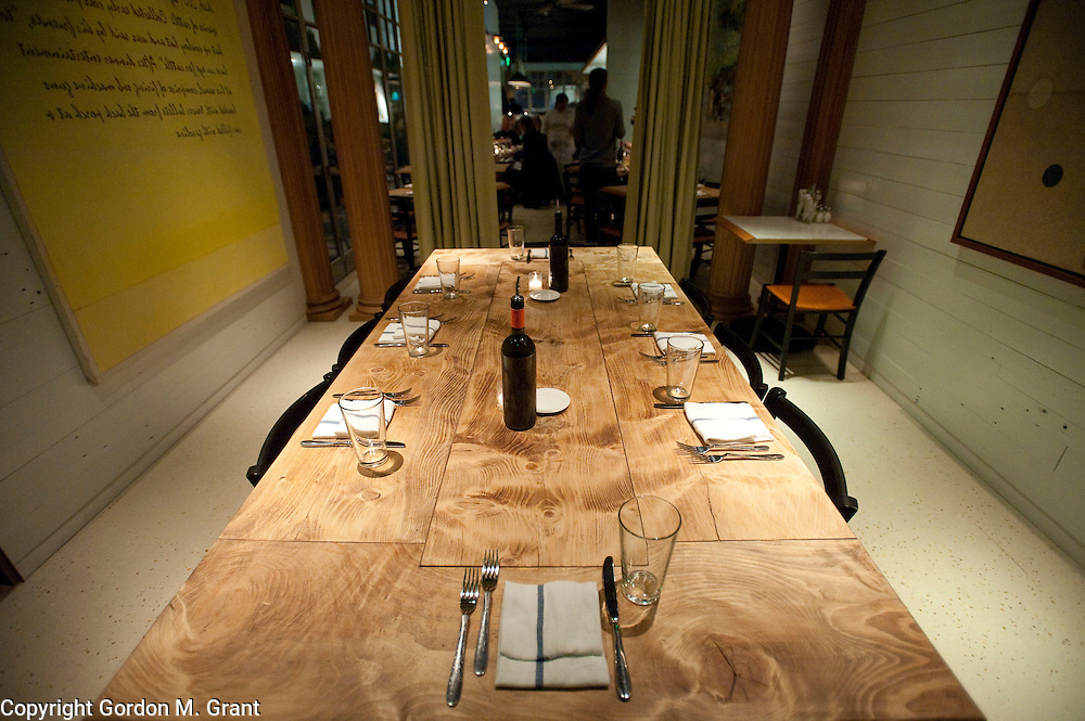 A private dining room at Exile, a new restaurant and lounge, Friday night, on Main Street in Amagansett. (February 5, 2010)