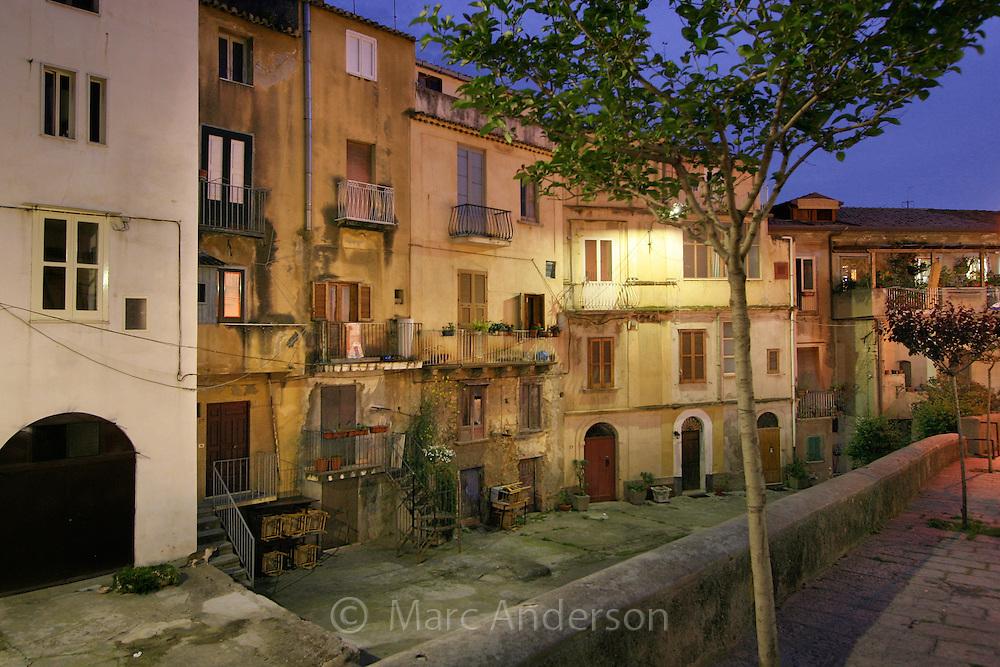 Italian village called Tropea at night, Calabria, Italy