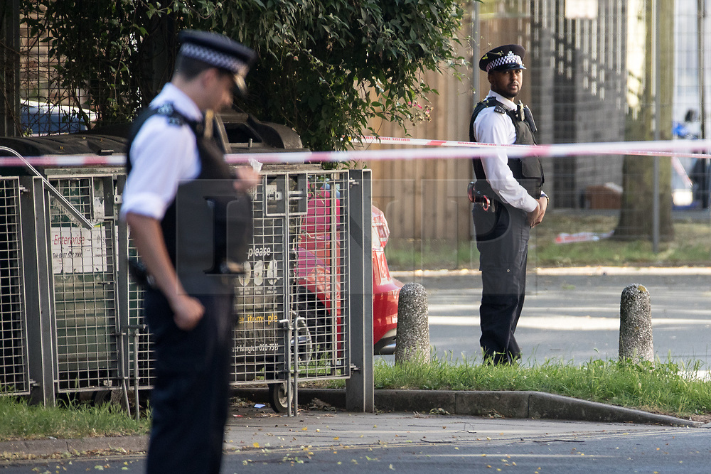 © Licensed to London News Pictures. 19/06/2017. London, UK. One man is known to be dead and several inured after a hired van was driven in to people on Whadcoat Street in Finsbury Park in North London after late night prayers at a nearby mosque . Photo credit: Joel Goodman/LNP