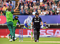 Cricket - 2019 ICC Cricket World Cup - Group Stage: New Zealand vs. South Africa<br /> <br /> South Africa's Chris Morris celebrates taking the wicket of New Zealand's Tom Latham caught by Quinton de Kock for 1, at Edgbaston, Birmingham.<br /> <br /> COLORSPORT/ASHLEY WESTERN