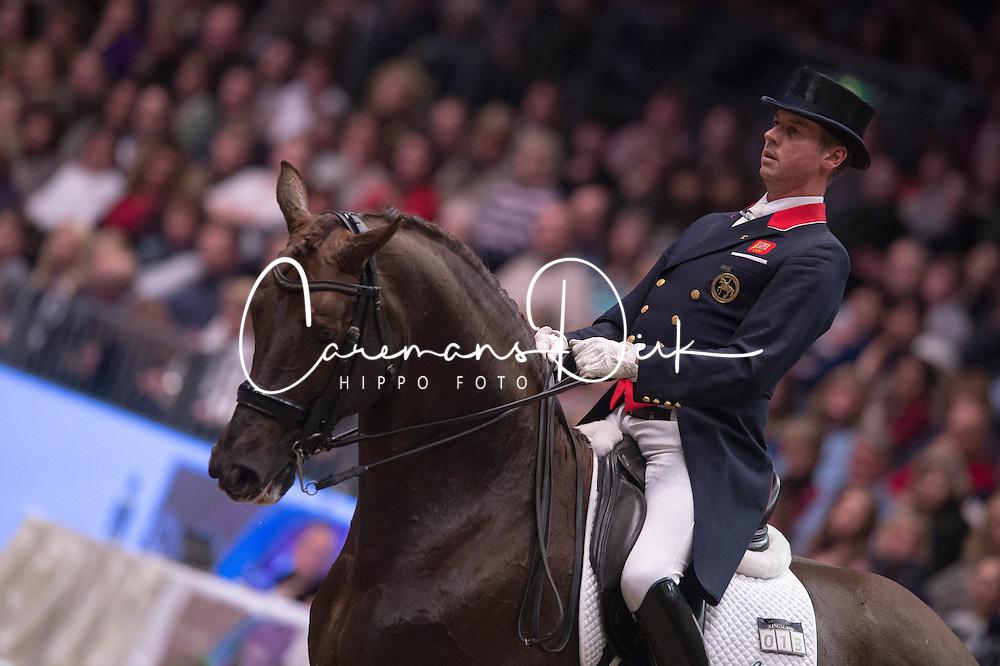Hester Carl (GBR) - Fine Time 13<br /> Reem Acra FEI World Cup Dressage <br /> London International Horse Show Olympia 2013<br /> &copy; Hippo Foto - Jon Stroud