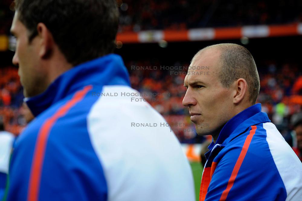 01-06-2010 VOETBAL: NEDERLAND - GHANA: ROTTERDAM<br /> Nederland wint vrij eenvoudig de oefenwedstrijd van Ghana / Arjen Robben<br /> &copy;2010-WWW.FOTOHOOGENDOORN.NL
