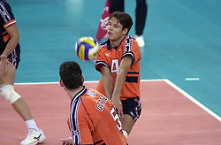 19-09-2000 AUS: Olympic Games Volleybal Nederland - Australie, Sydney<br /> Nederland wint vrij eenvoudig van Australie met 3-0 / Reinder Nummerdor