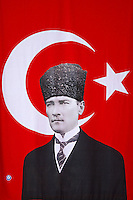 Turquie. Portrait d'Ataturk. // Turkey. Ataturk portrait.