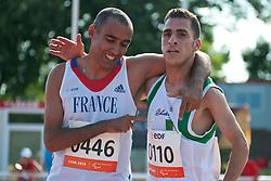 MASTOURI Djamel, DJEMAI Madjid, FRA, ALG, 1500m, T38, 2013 IPC Athletics World Championships, Lyon, France